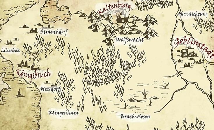 Fantasy Karte.Caderiakarte Fantasy Larp Verein Norddeutschland